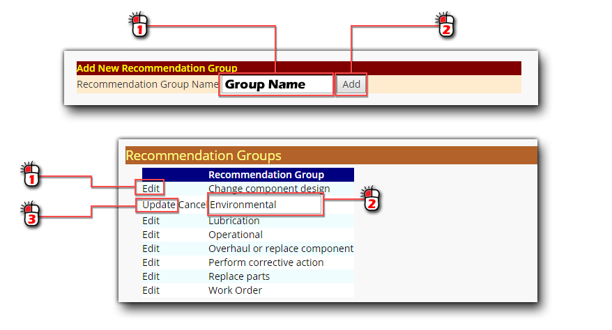 Add Recommendation Groups Screen Shot