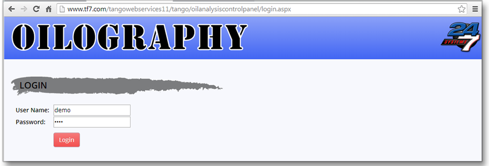 Oilography Login