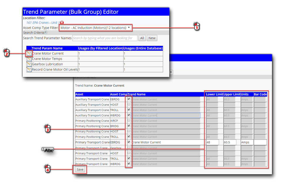Add Existing Trend Parameter in Bulk Editor