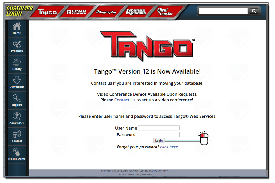 Tango Login Quick Start